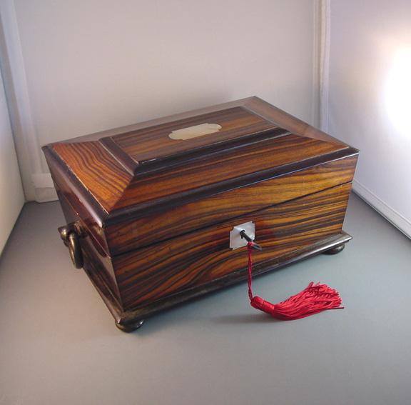 VICTORIAN William 5th coromandel sewing box circa 1820