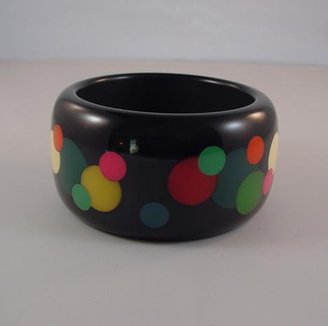 DOMBEK bakelite chunky bangle with dots