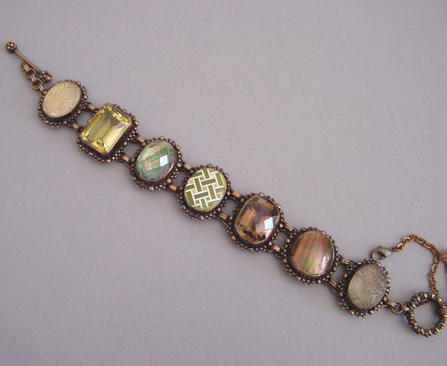 STEPHEN DWECK bracelet shell mabe, citrine & quartz