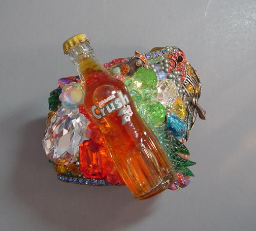 WENDY GELL Orange Crush bracelet with mini Orange Crush bottle, 1985