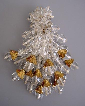HASKELL Hess beaded dress clip