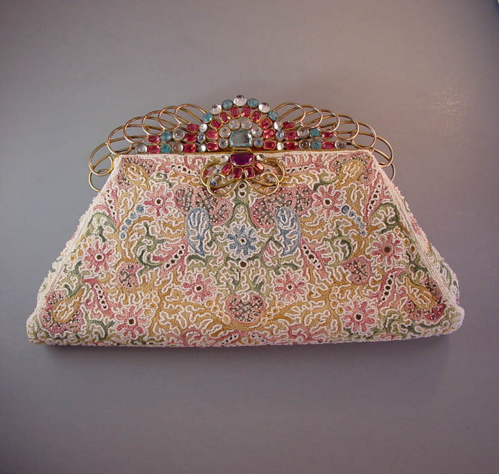 HOBE Josef purse with hand embroidered beaded body