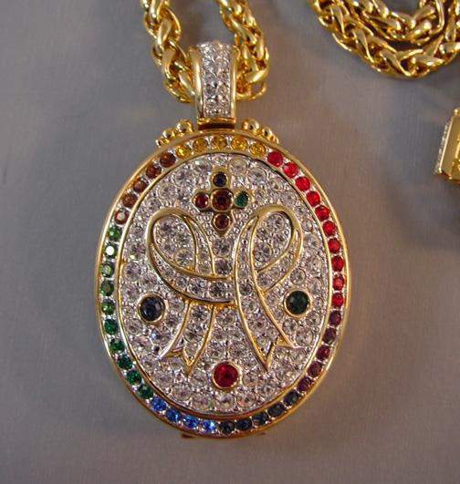 SWAROVSKI 1990s colorful locket pendant