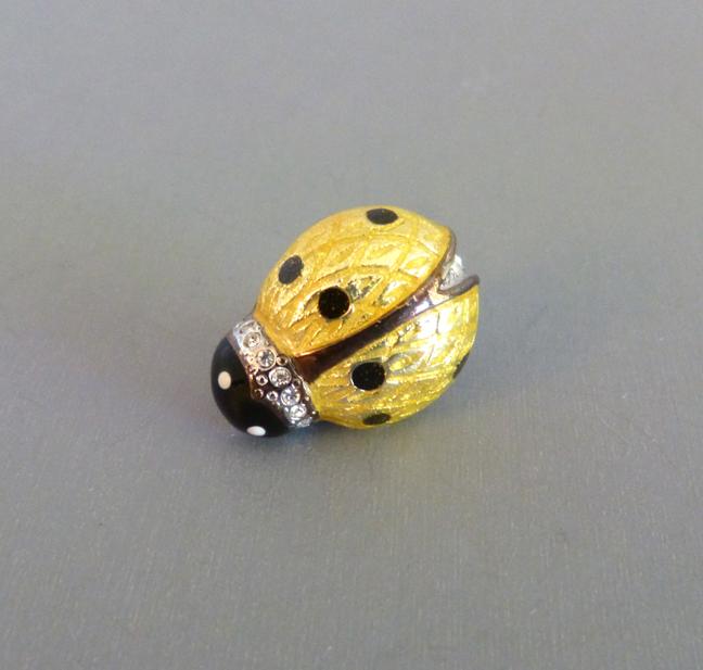 CAROLEE yellow enameled ladybug tac scatter pin