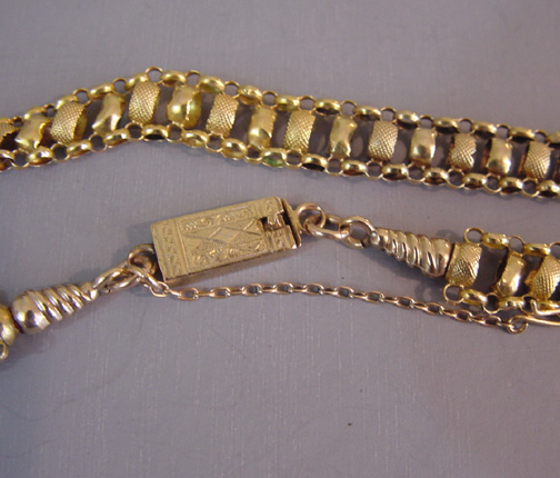Georgian Antique 15k Yellow Gold Chain With Box Clasp