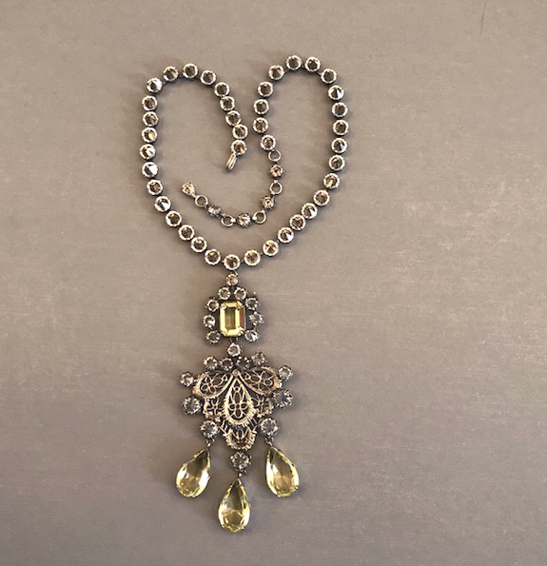 SCHREINER unsigned pendant necklace and brooch combination