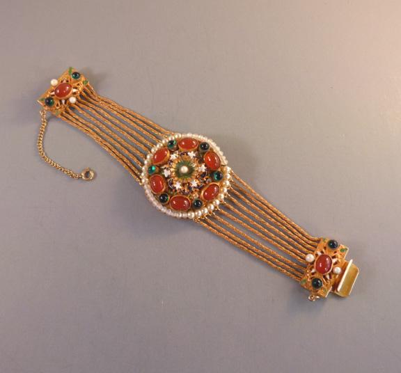 HOBE bracelet in an Old World Austro-Hungarian style