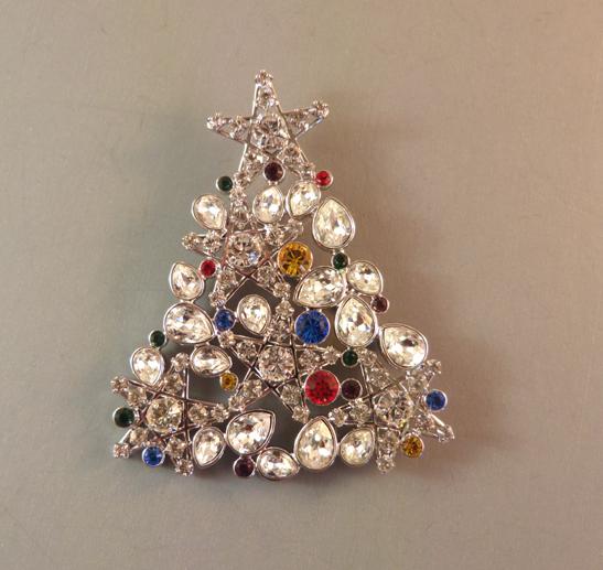 SWAROVSKI 2006 Rockefeller Christmas tree brooch with box