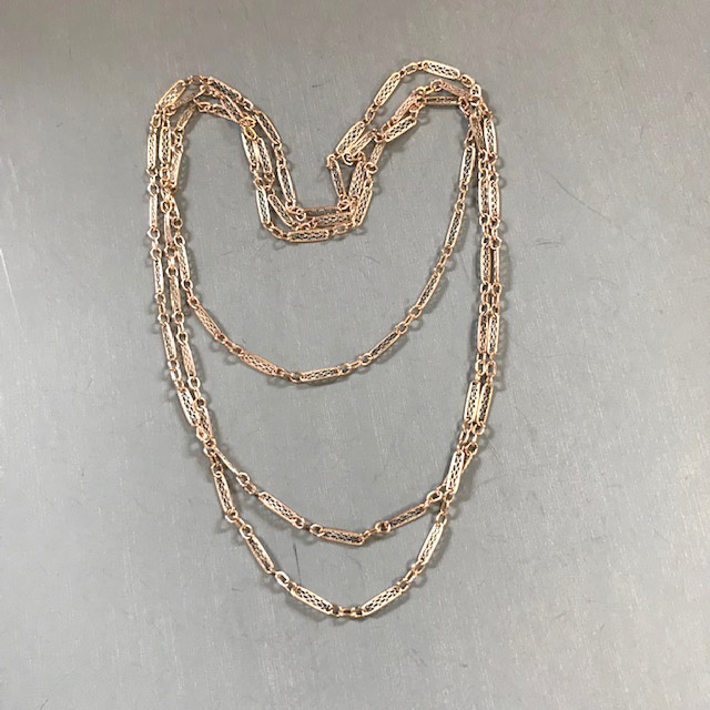 SPANISH filigree chain from the owner of Candelaria Curio  in Santa Fe, New Mexico