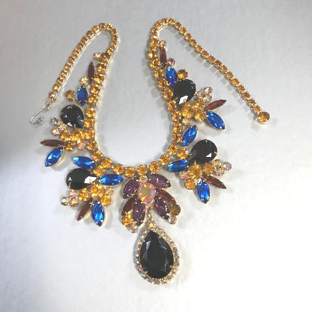 JULIANA D&E style bib necklace in dramatic colors